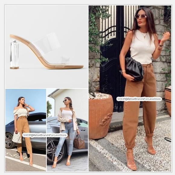 Zara Shoes | Zara Vinyl Sandals With